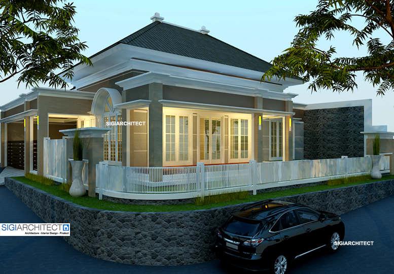 Rumah Villa Klasik Kolonial di Kavling Pojok