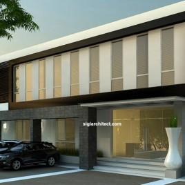 Bangunan Kantor minimalis 2-Lantai untuk Pergudangan di Surabaya Barat