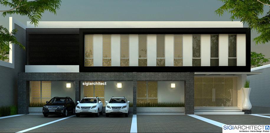 bangunan Kantor minimalis 2 lantai