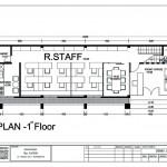 denah bangunan kantor 2 lantai