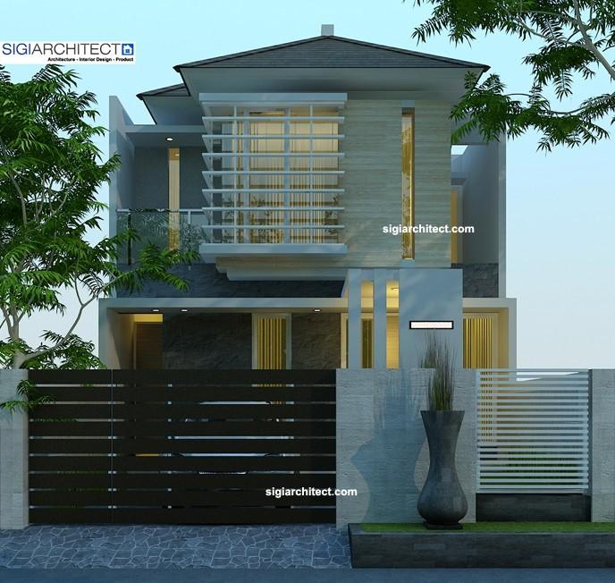 desain rumah urban 2 lantai _ pagar depan