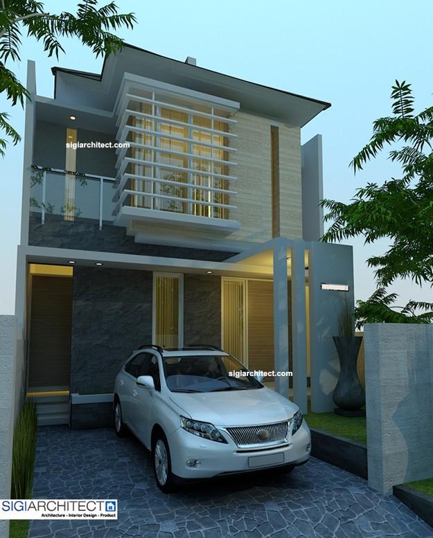 desain rumah urban 2 lantai