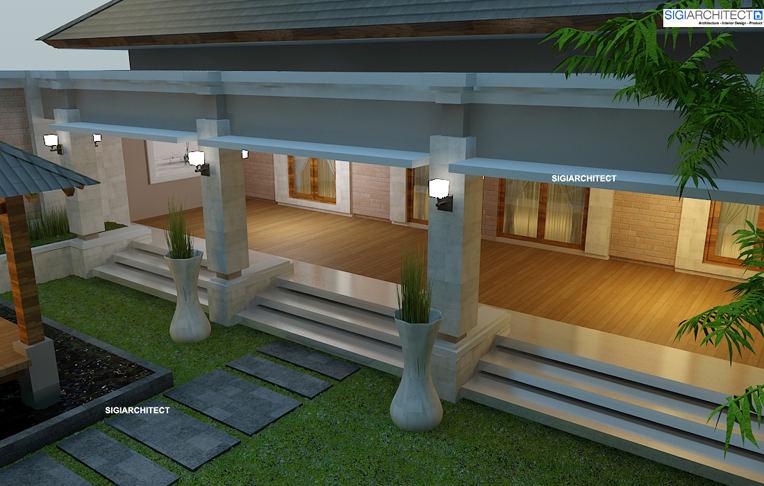 desain villa bali 1 lantai_tampak belakang