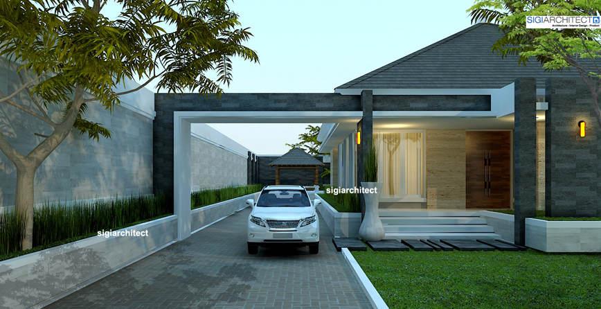 rumah minimalis modern resort