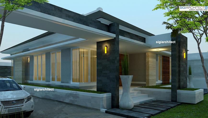 Interior kamar tidur minimalis - Rumah Minimalis Modern Semi Resort Di Pekanbaru Riau