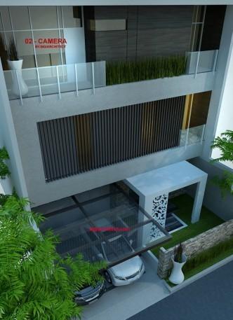 rumah mewah 3 lantai desain fasad modern minimalis