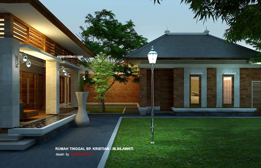 desain rumah joglo villa tropis