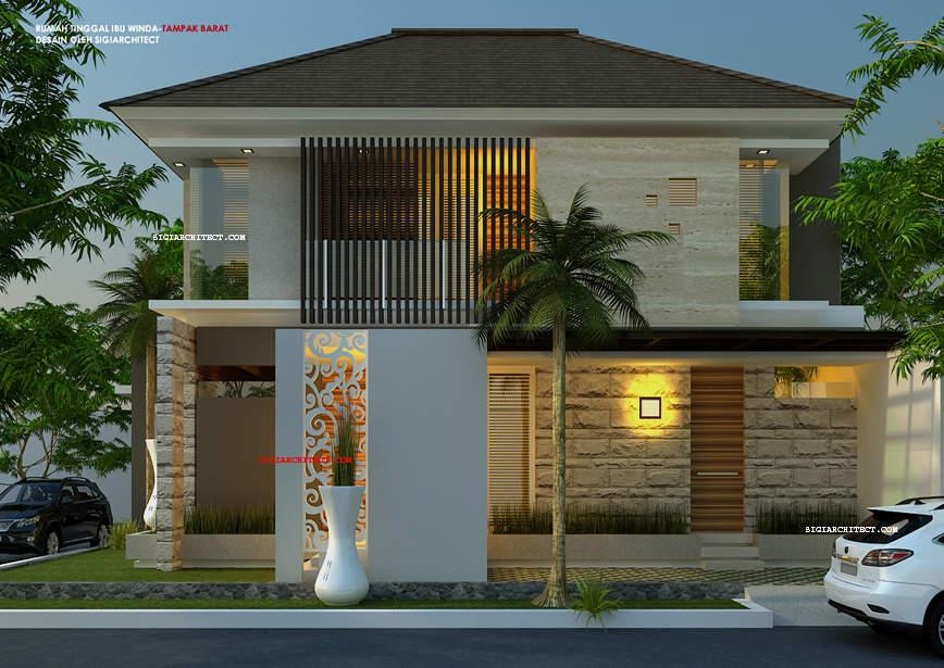 jasa arsitek surabaya MODEL RUMAH HOOK 2 LANTAI