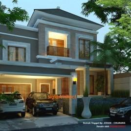 Desain Villa - Rumah Tropis & Kolam Renang