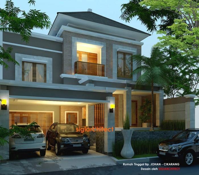 desain villa - rumah tropis