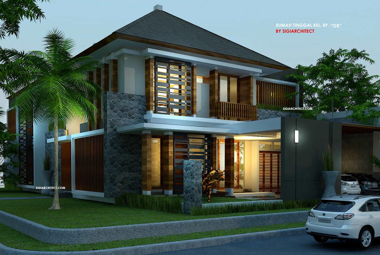 Desain Rumah Pojok Desain Unik Tropis Modern