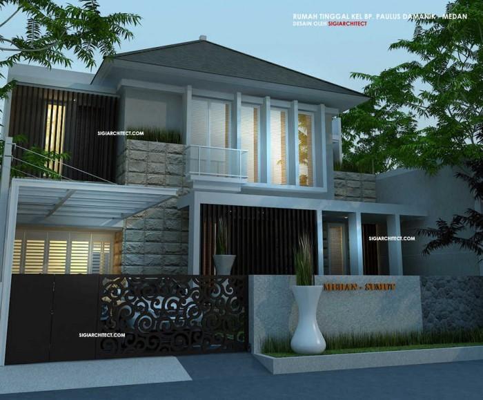 Model desain rumah minimalis sederhana modern tropis 2014 for Design rumah mimimalis modern