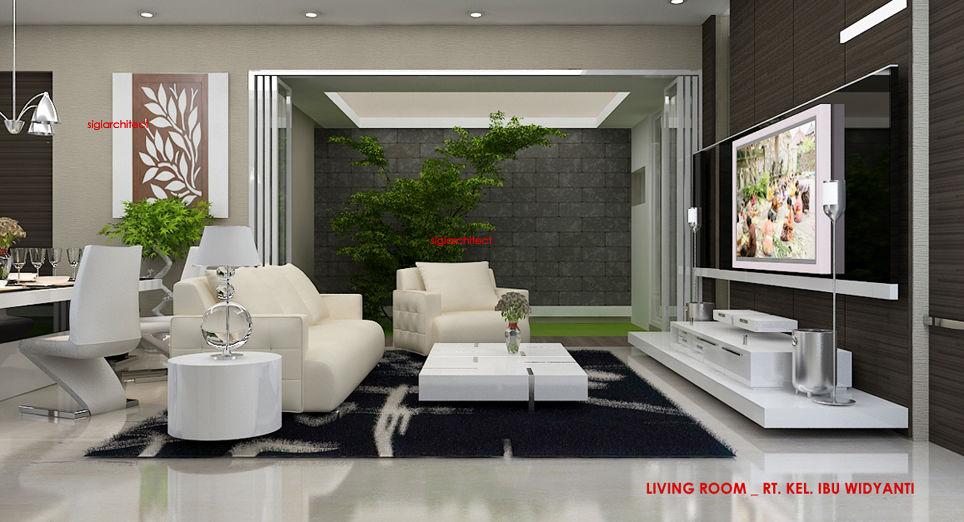 desain rumah tropis _interior living room