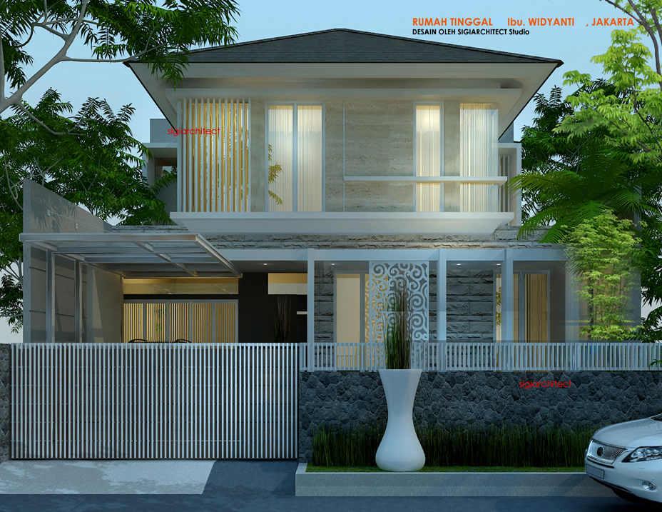 desain rumah tropis elegan & aksen batu alam