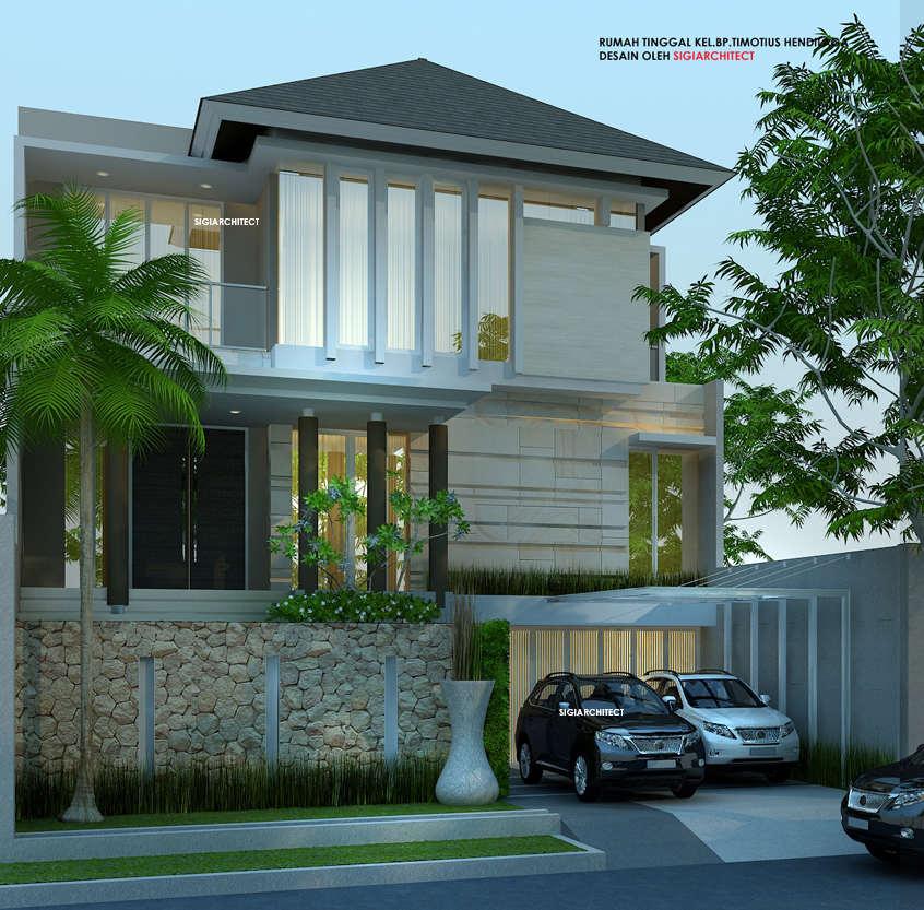 Desain Rumah 3 Lantai Minimalis Tropis 2