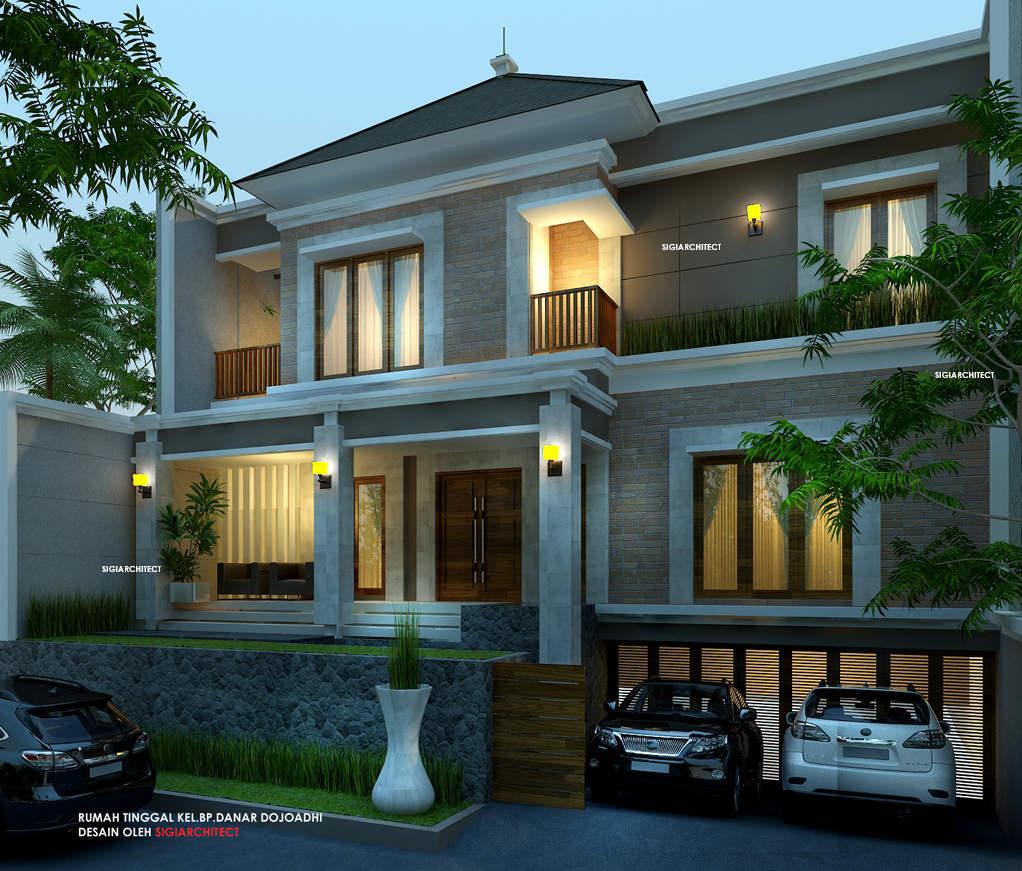 Desain Rumah Bali Modern Semi Basement