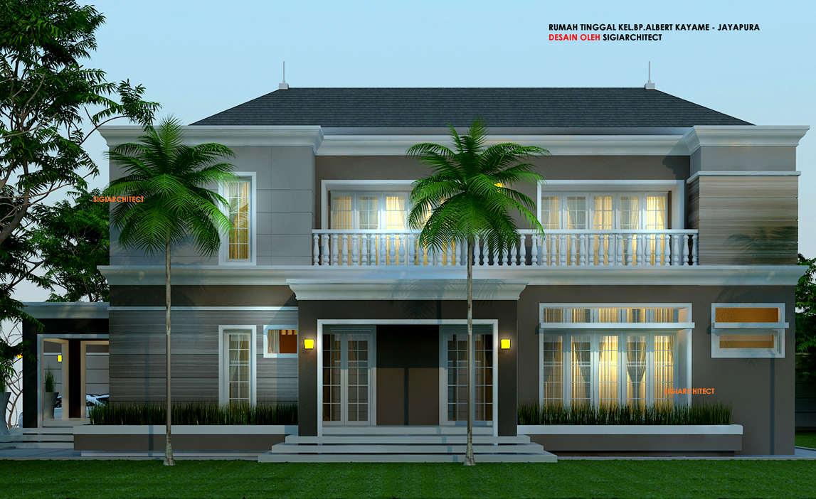 rumah kolonial minimalis
