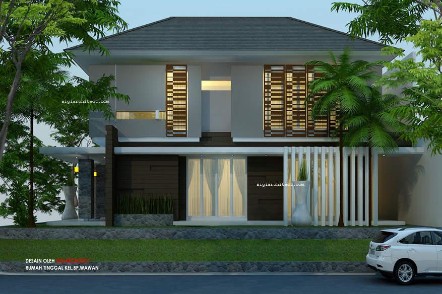 Desain Rumah Pojok Semy Basement_Kavling Hook 3