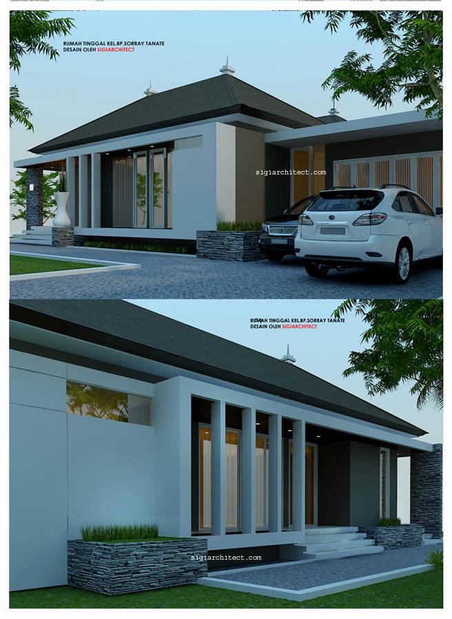 desain rumah 1 lantai minimalis modern