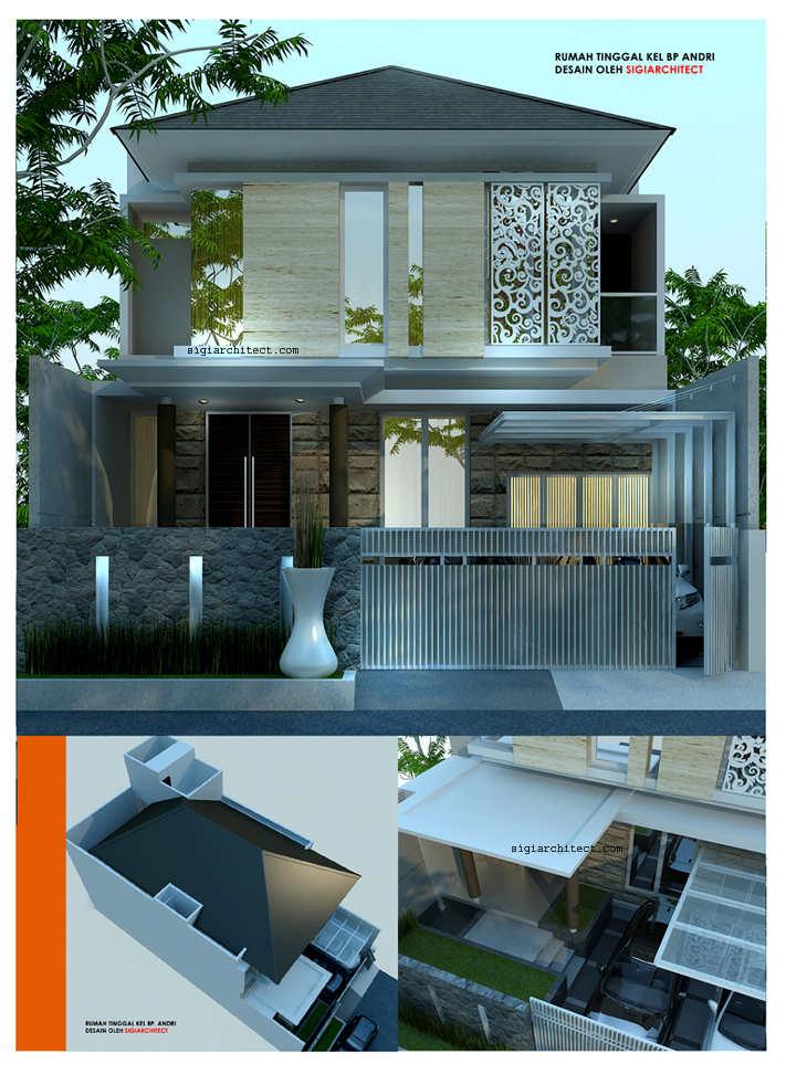 Desain rumah modern minimalis 2 lantai for Design rumah mimimalis modern