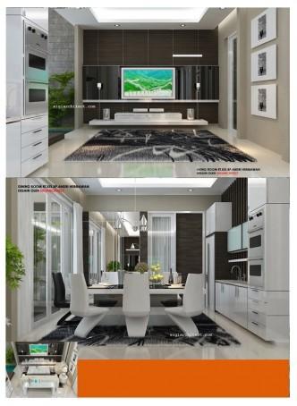 desain rumah tropis modern 2 lantai type 250 m2