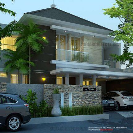 model rumah 3 lantai kavling hook, box house minimalis modern