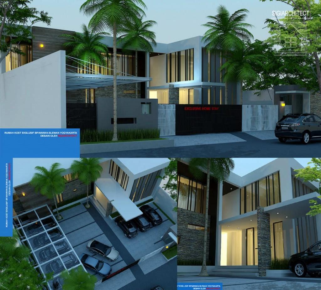 desain rumah kost ekslusif