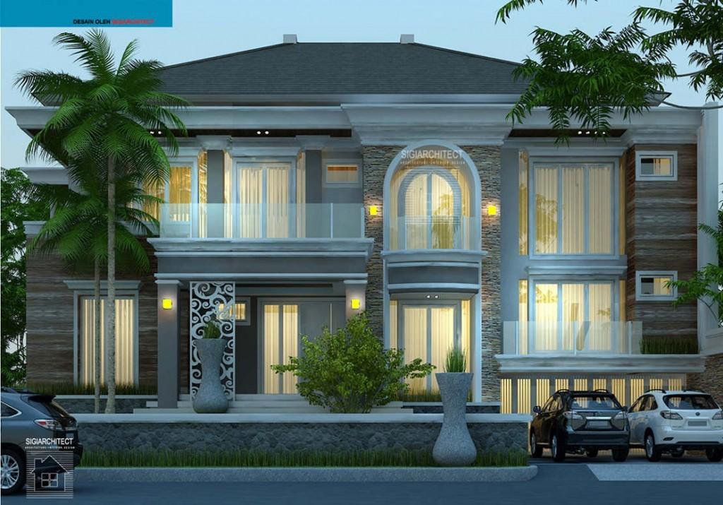 desain rumah mewah mediteran