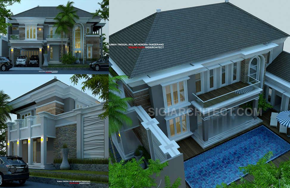 desain rumah dengan kolam renang kavling hook