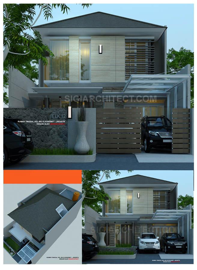model rumah 2 lantai modern tropis Ib Elkha_Bandung_