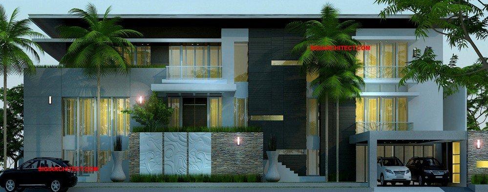 jasa arsitek desain rumah tropis villa mewah kantor