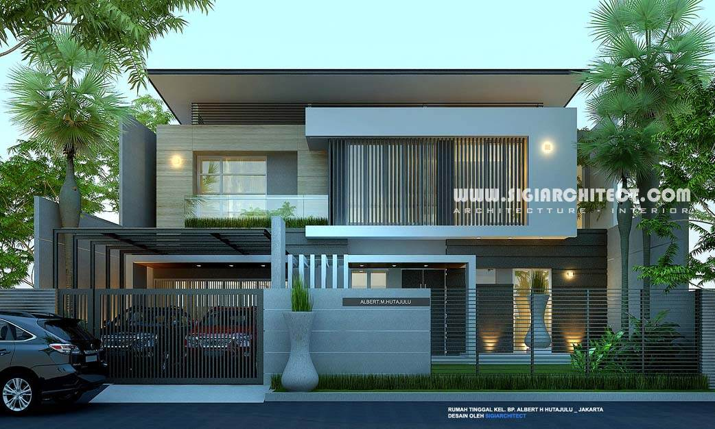 rumah mewah 2 lantai modern minimalis