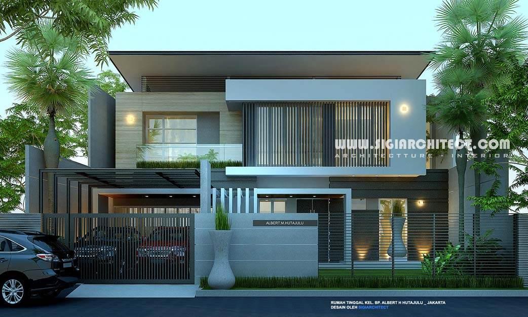 rumah mewah 2 lantai amp kolam renang privat modern minimalis