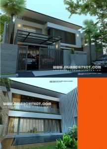 rumah mewah 2 lantai & kolam renang privat, modern minimalis