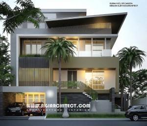 desain rumah mewah 3-4 lantai, modern minimalis