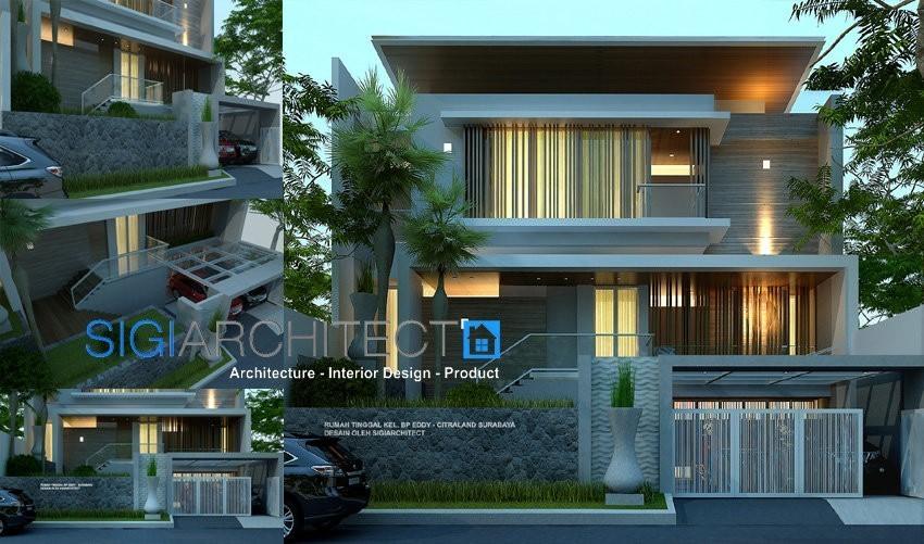 model rumah minimalis modern 3 lantai desain rumah mewah