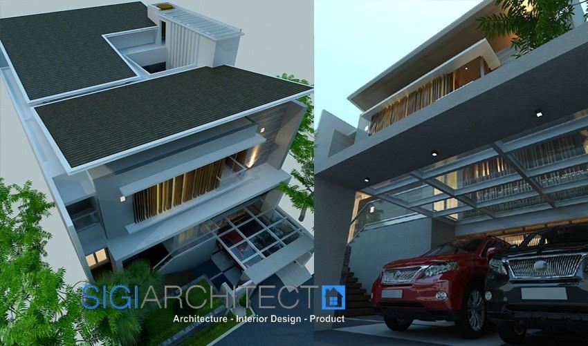 model rumah minimalis modern 3 lantai