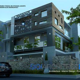 Box House Model Rumah 3 Lantai Hook