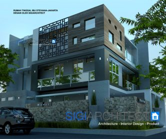 box house model rumah 3 lantai hook_roof garden