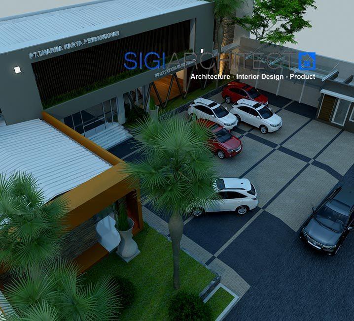 desain gedung perkantoran modern