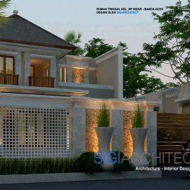 Desain Villa Bali Modern 2 Lantai_Model Rumah Bali