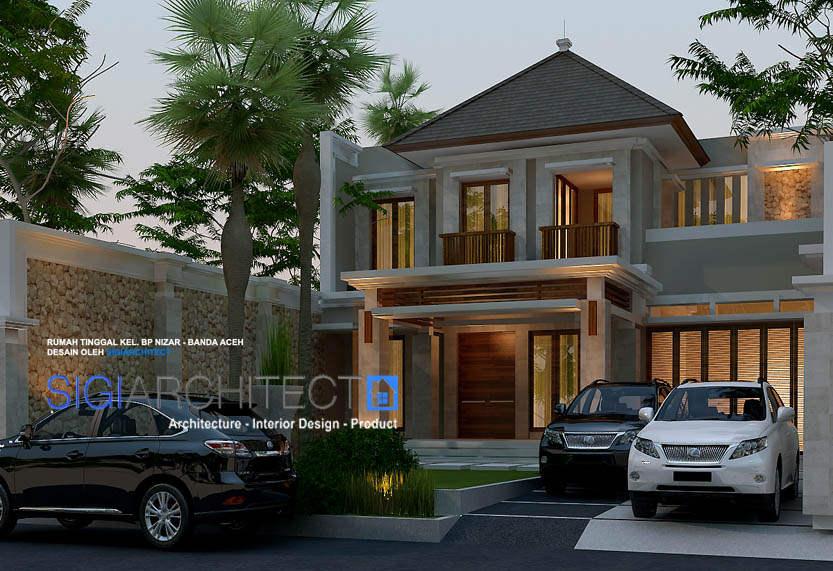 desain villa bali modern 2 lantai 3