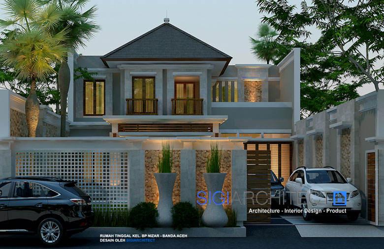 desain villa bali modern 2 lantai