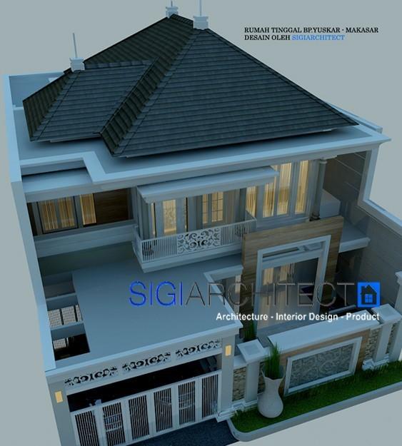 rumah klasik modern 2 lantai 2