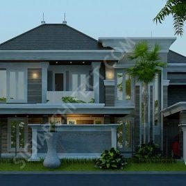 Model Rumah Klasik 2 Lantai Hook