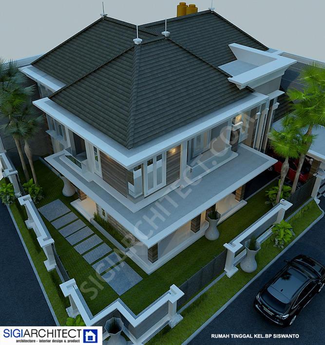 model rumah klasik 2 lantai