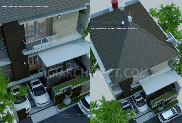 model rumah split
