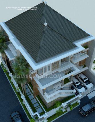 Rumah 3 Lantai Modern Klasik atap