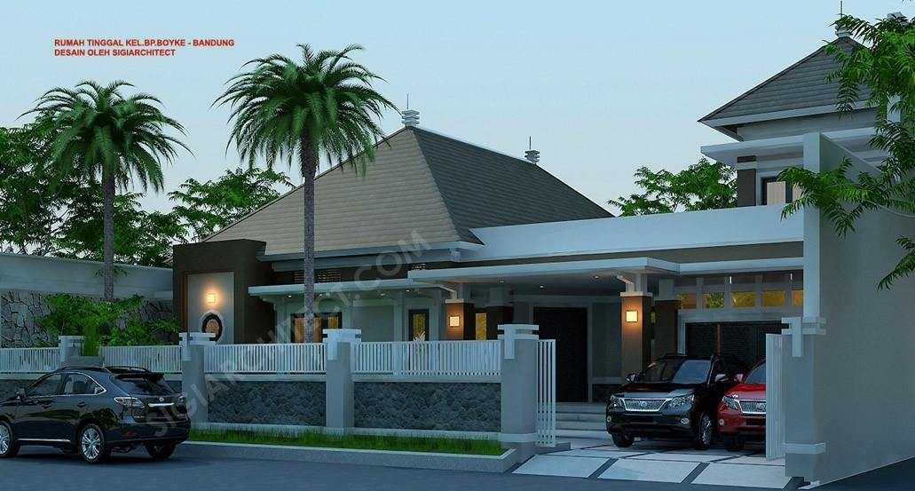 Rumah Bandung Tempo Dulu 2 Lantai Dengan Taman Luas Jasa Arsitek