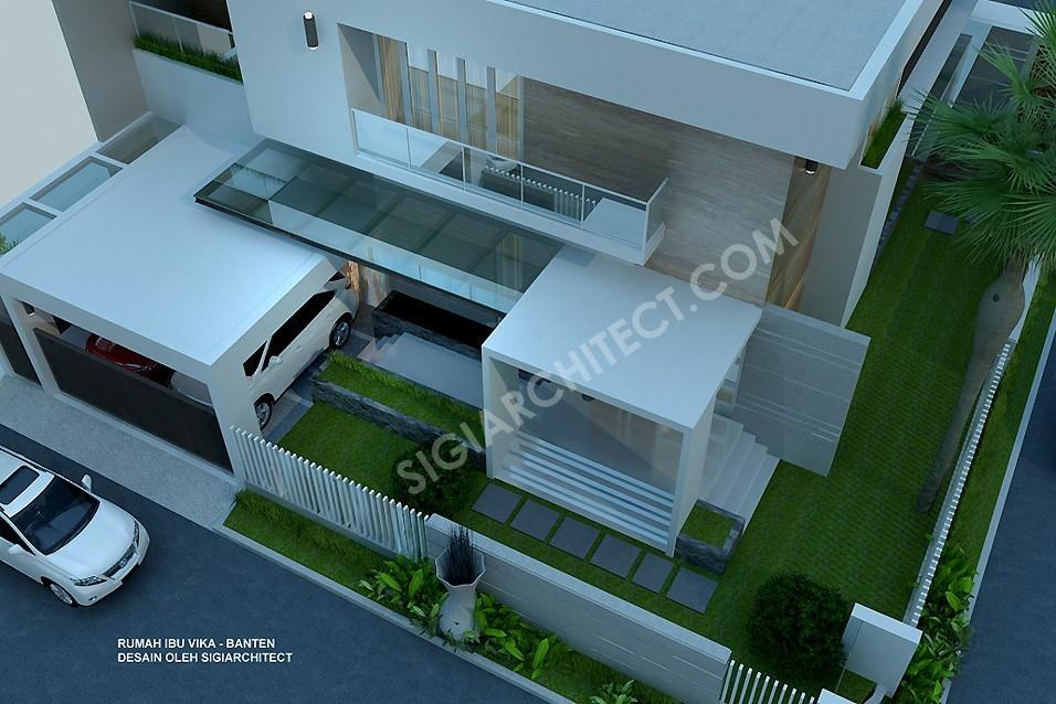 Rumah Hook Minimalis Modern 2 Lantai_TERAS DEPAN
